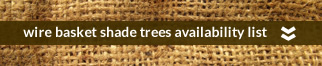 wire baskets shade trees availability list